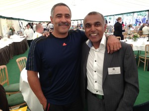 Olympic Gold Medallist Daley Thompson meets Prof Patel